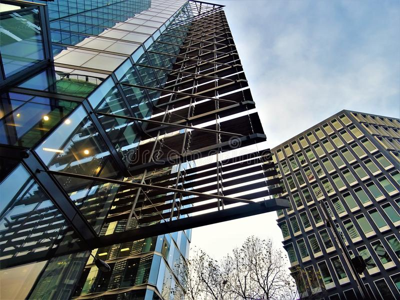 Low Angle Photography of High-rise Buildings royalty free stock images