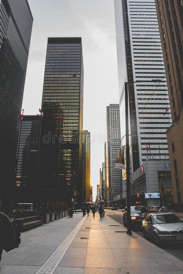 Low-angle Photography of High-rise Buildings stock images