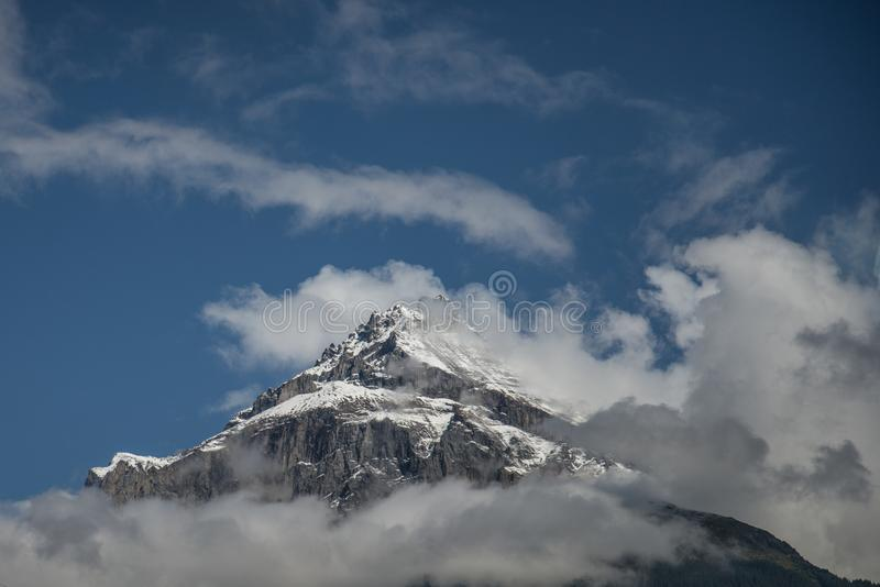 Low Angle Photography of Mount Everest Under Blue Sky royalty free stock images