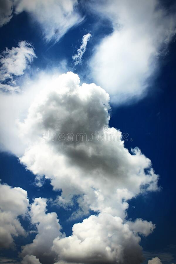Low Angle Photography of White Clouds on Blue Sky at Daytime stock images