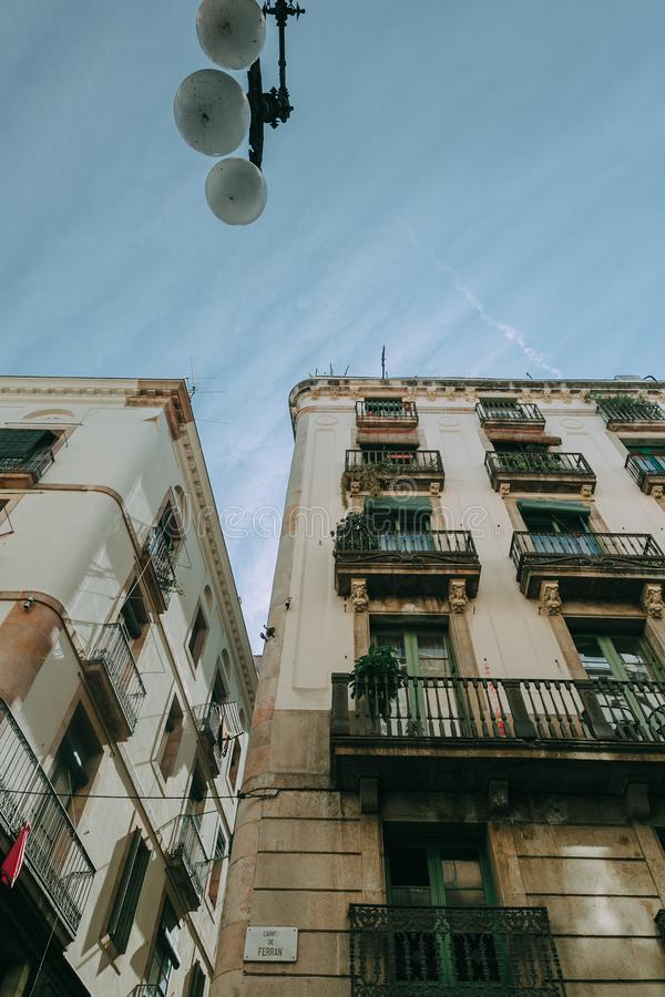 Low Angle Shot of Apartment Buildings stock photos