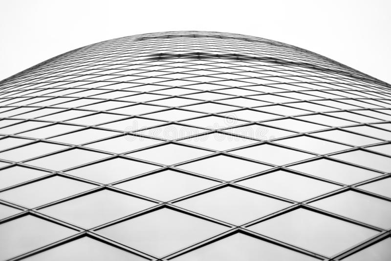 Low angle shot of a unique architectural structure`s windows royalty free stock photo