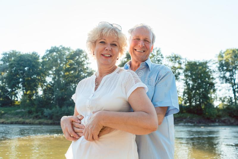 Romantic senior couple enjoying a healthy and active lifestyle stock photos