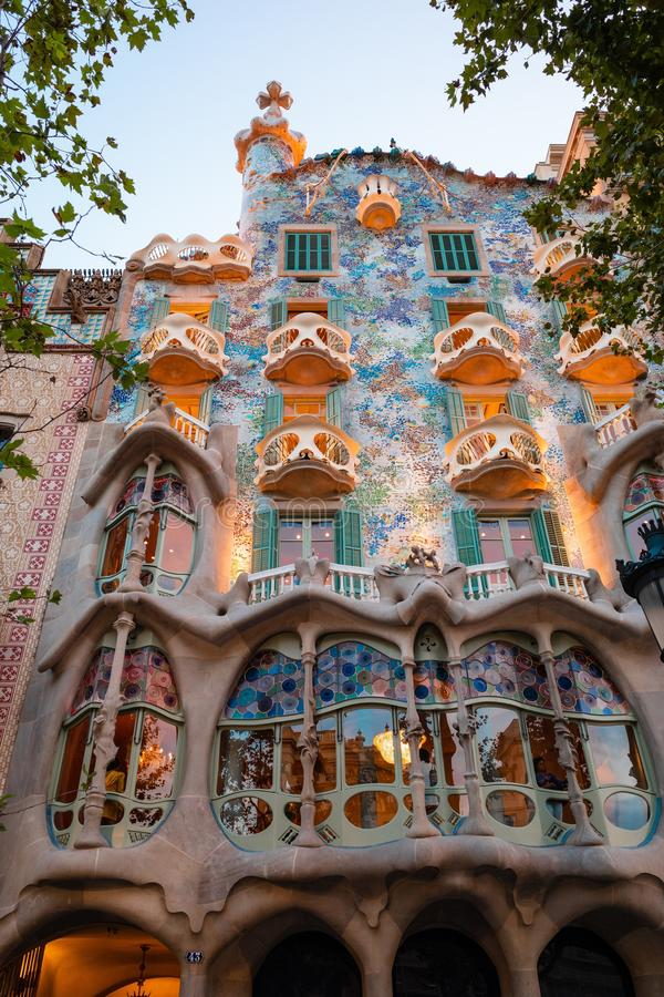 Free Low Angle Vertical Shot Of The Unique Casa Battlo In Barcelona, Spain Designed By Antoni Gaudi Royalty Free Stock Photo - 161114135
