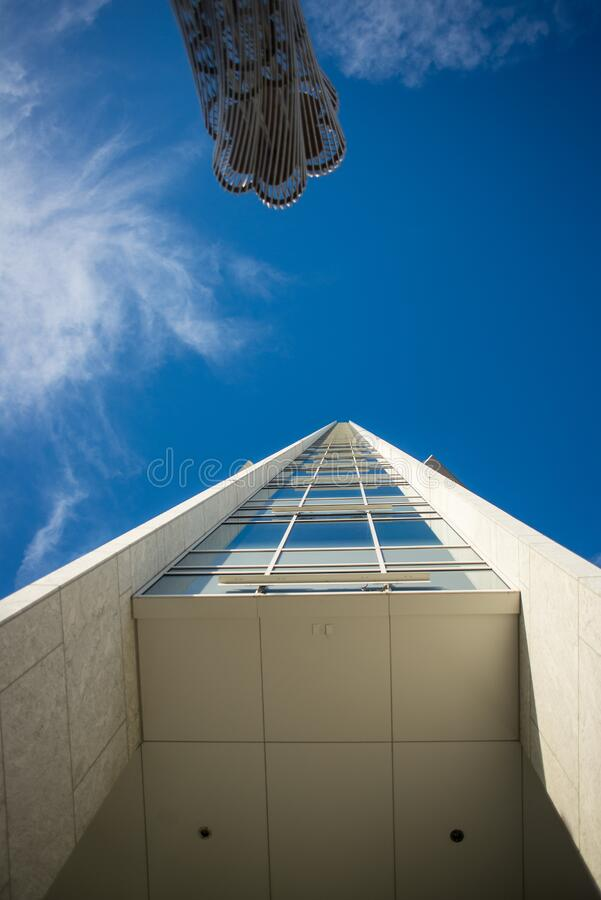 Low angle view of building stock photography