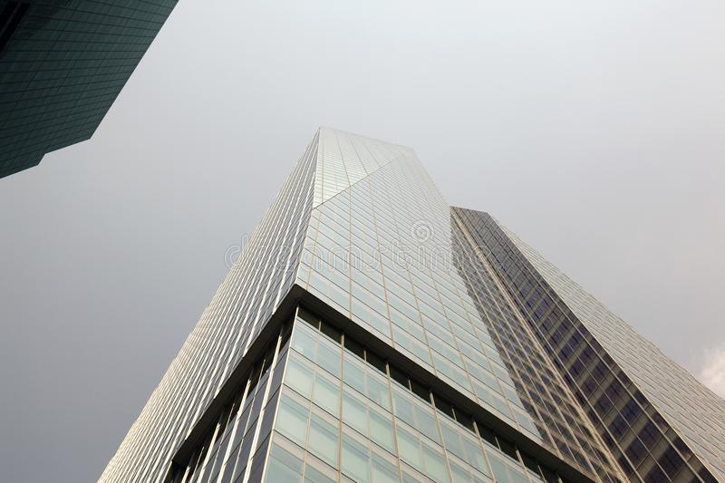 A low angle view of a building in NYC royalty free stock photos