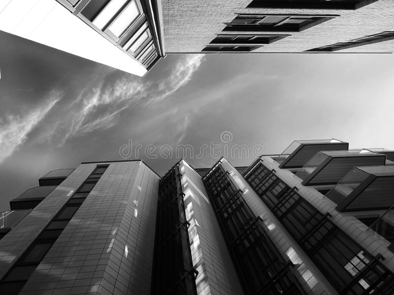 Low angle view of city royalty free stock photos