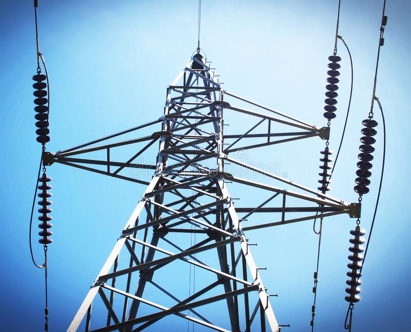 Low Angle View of Electric Post royalty free stock photo