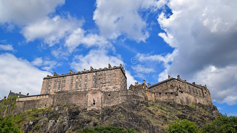 Low Angle View of Fort Against Cloudy Sky royalty free stock photos