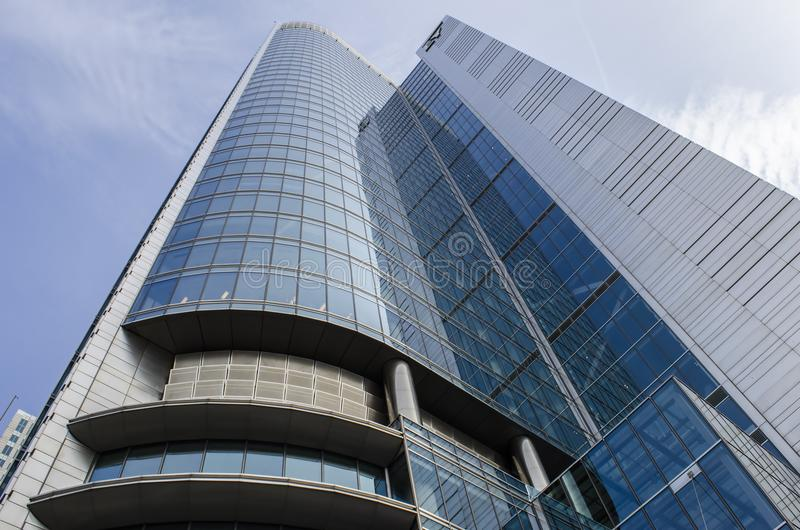 Low Angle View of High-rise Building royalty free stock images