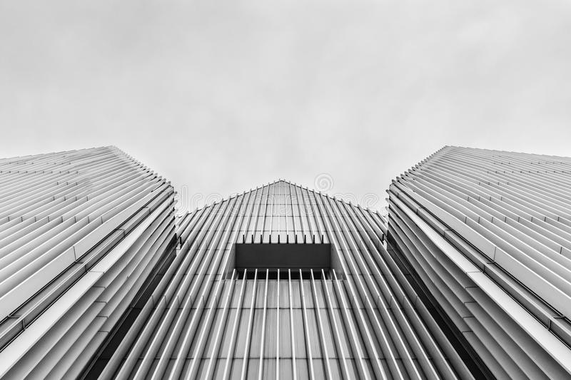 Low Angle View of High Rise Building stock image