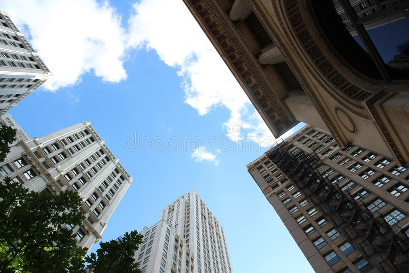 Low-angle View of High-rise Buildings royalty free stock image