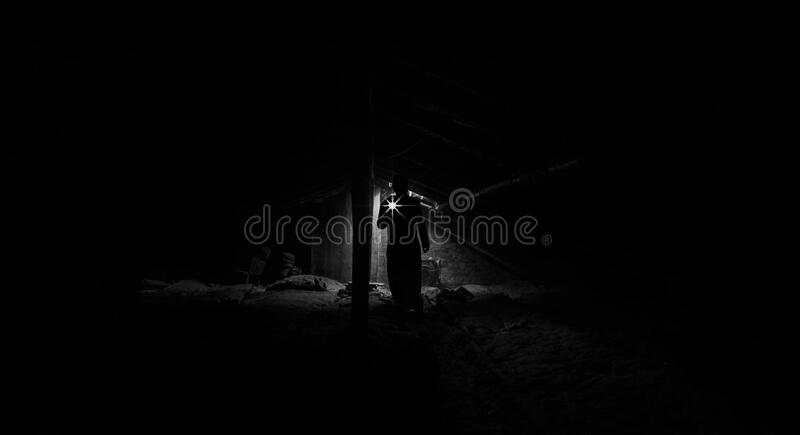 Low Angle View Of Man Standing At Night Free Public Domain Cc0 Image