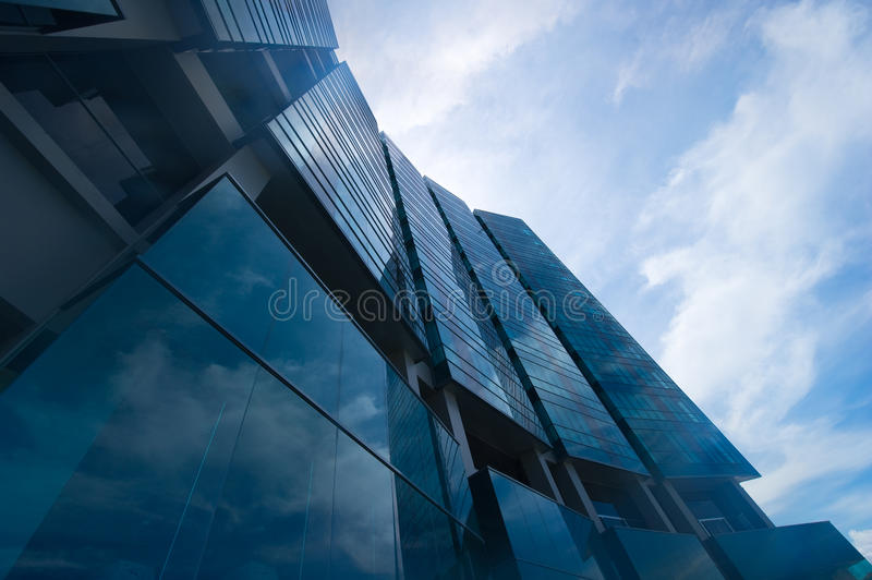 Low angle view of modern architecture royalty free stock photos