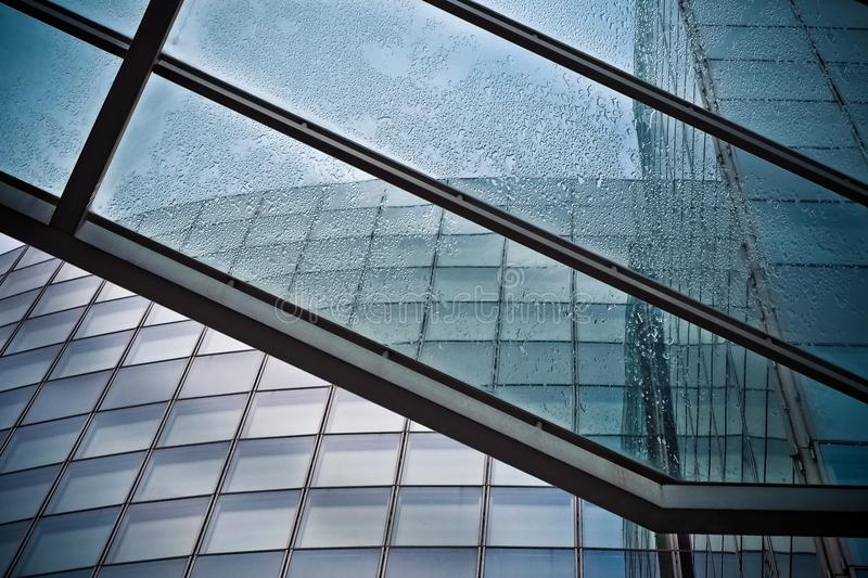 Low Angle View of Office Building stock images