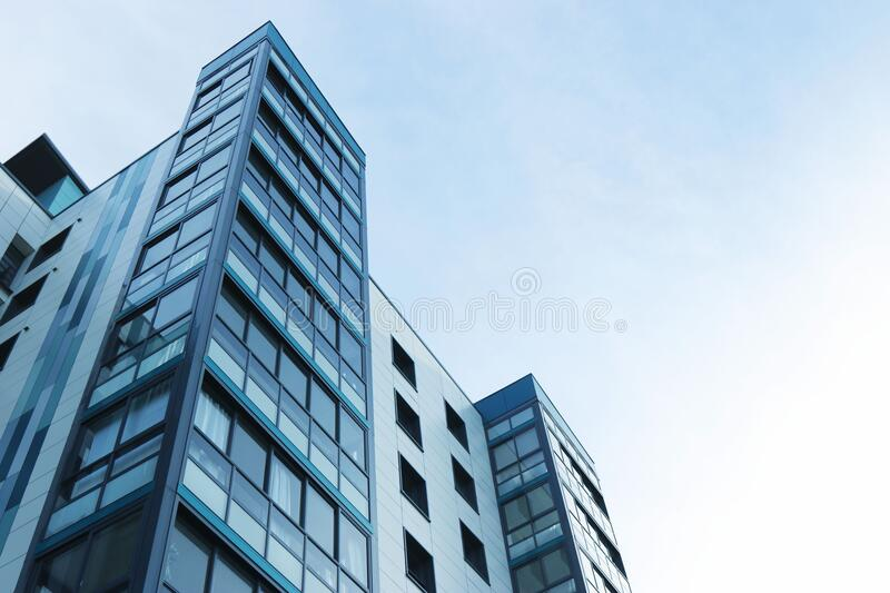 Low Angle View of Office Building Against Sky royalty free stock images