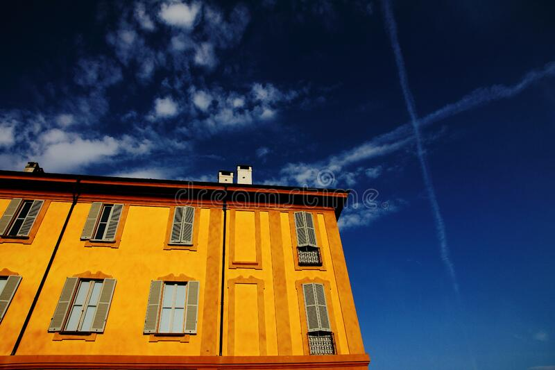 Download Low Angle View Photography Of Orange House Stock Photo - Image of photo, building: 83014690