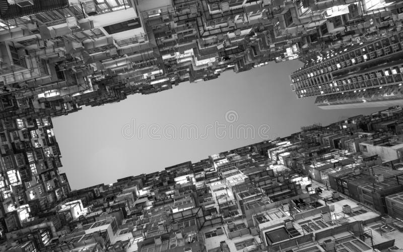 Low Angle View Of Residential Building stock images