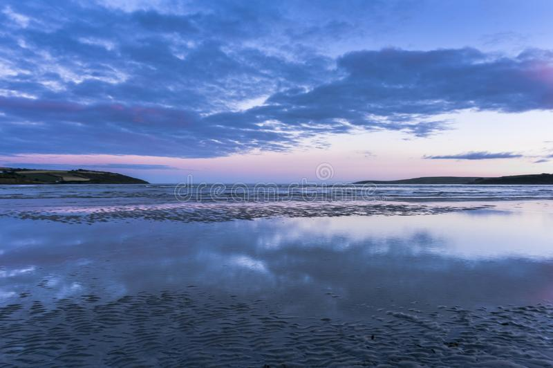 Low angle view of sea against clouds during sunset, Ireland. Europe royalty free stock photo
