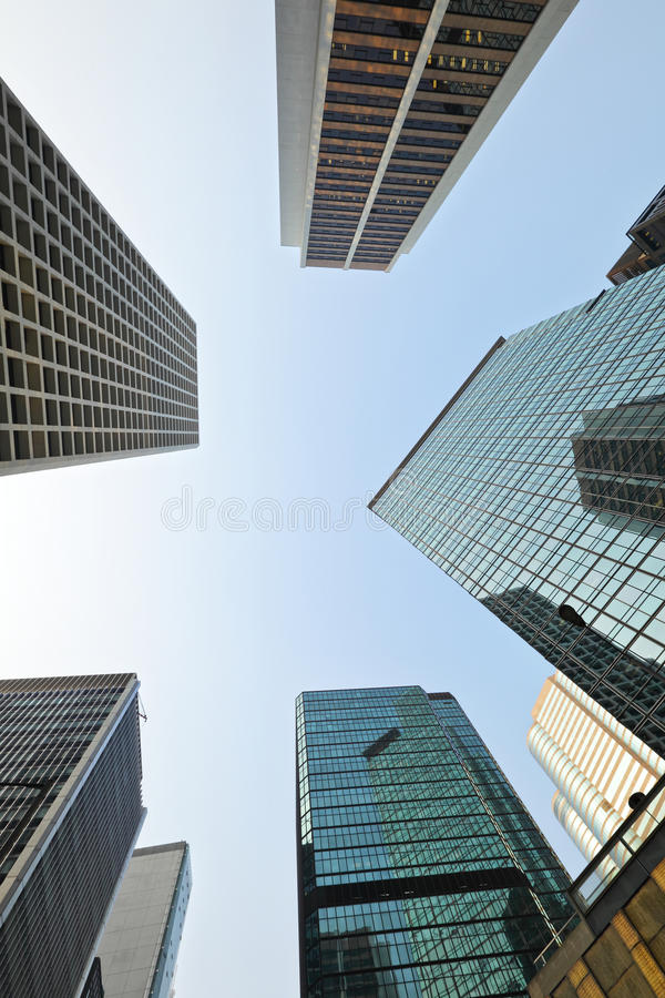 Low angle view of skyscraper. Low angle view of the skyscraper stock photography