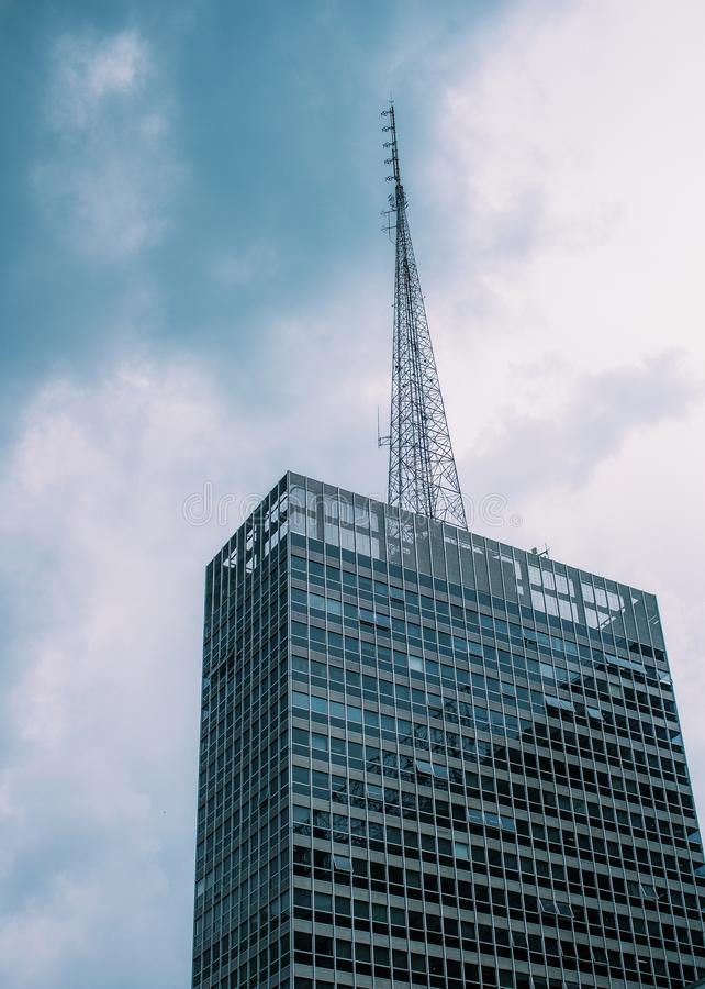 Low Angle View of Skyscraper Against Sky royalty free stock image