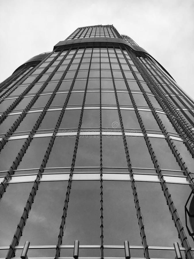 Low angle view of skyscraper royalty free stock photo