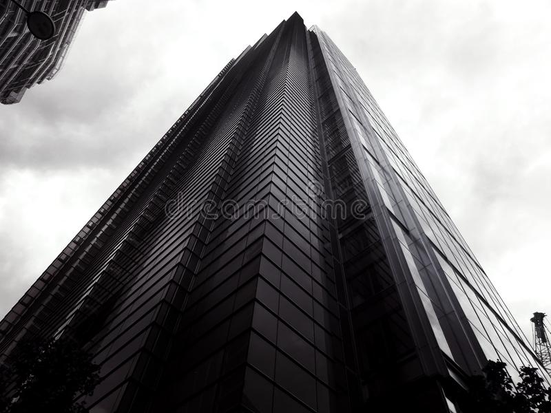 Low angle view of skyscraper stock photos