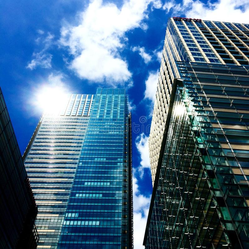Low Angle View of Skyscrapers Against Sky stock image