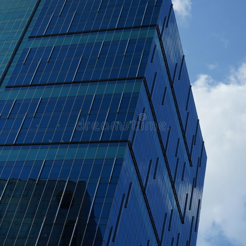 Low angle view of skyscrapers Business Office with blue sky, Cor stock image