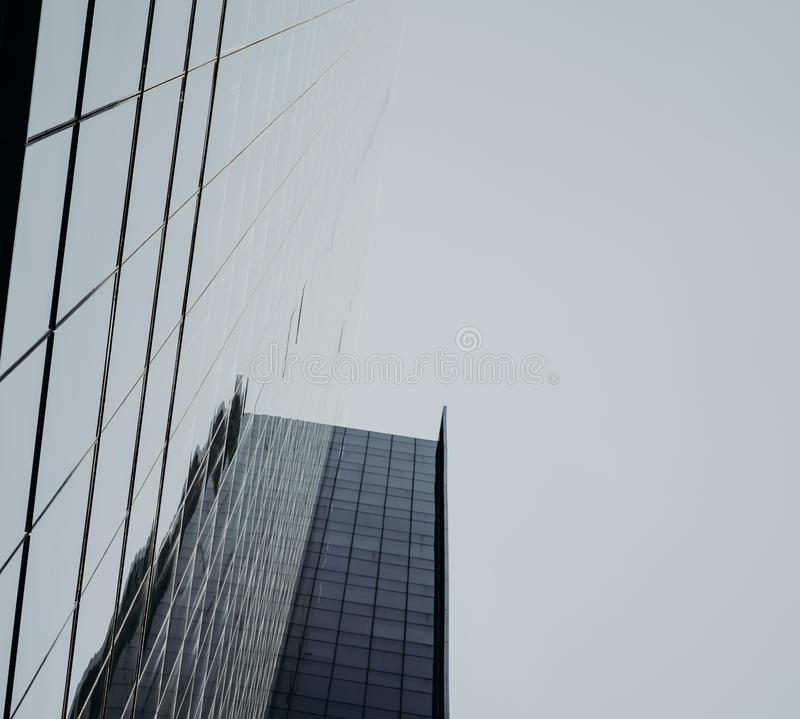 Low angle view of skyscrapers Business Office with blue sky, Cor royalty free stock photo
