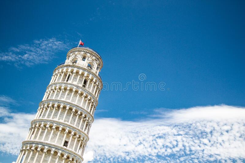 Low Angle View of Tower Against Blue Sky royalty free stock photos