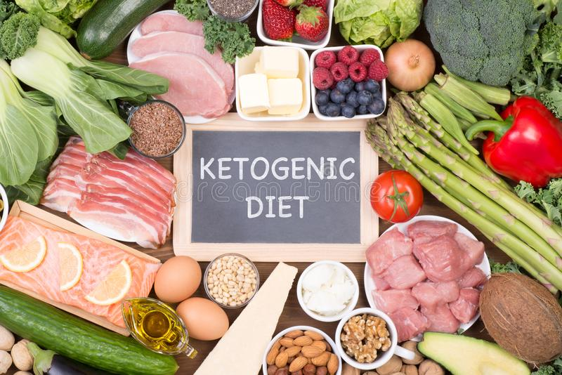 Low carb diet or ketogenic diet royalty free stock images