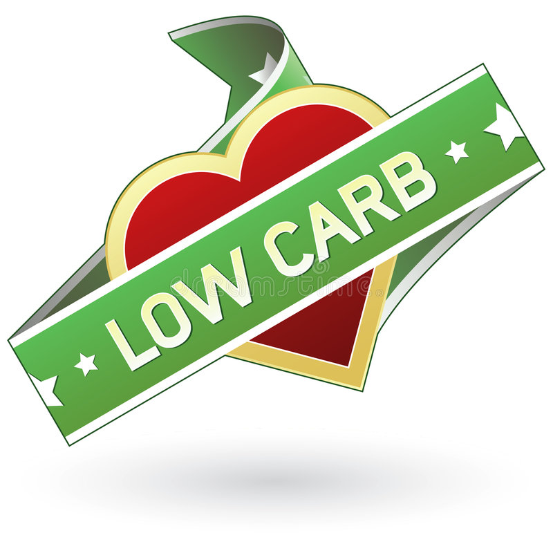 Low carb food packaging label sticker royalty free illustration