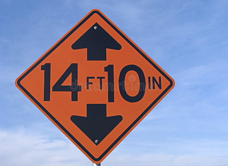 Low clearance traffic sign. royalty free stock images