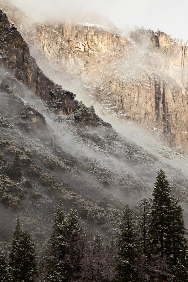 Low Clouds In Yosemite Stock Images