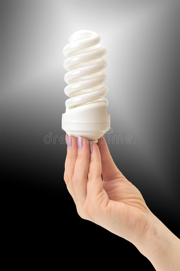 Low-energy bulb royalty free stock image