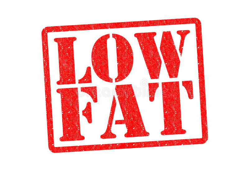 LOW FAT. Rubber Stamp over a white background stock illustration
