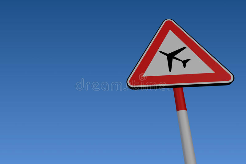 Download Low Flying Aircraft Road Sign Stock Illustration - Illustration of blue, road: 21201810