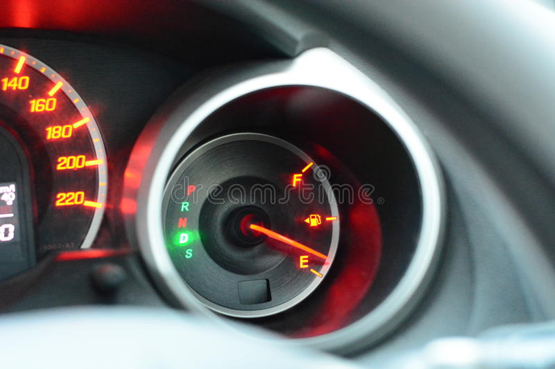 Low fuel royalty free stock photo