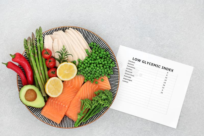 Low GI Food for a Diabetic Diet stock photography