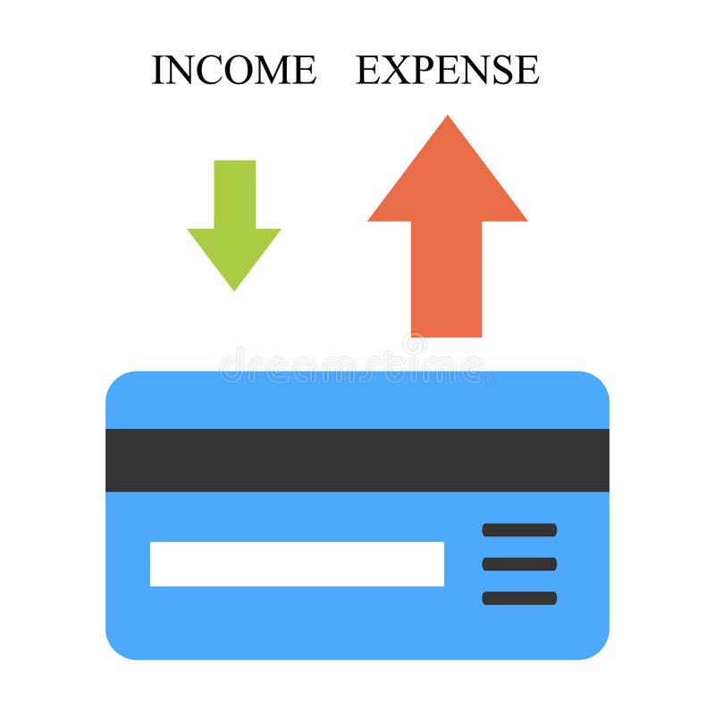 Low income and high expense vector illustration