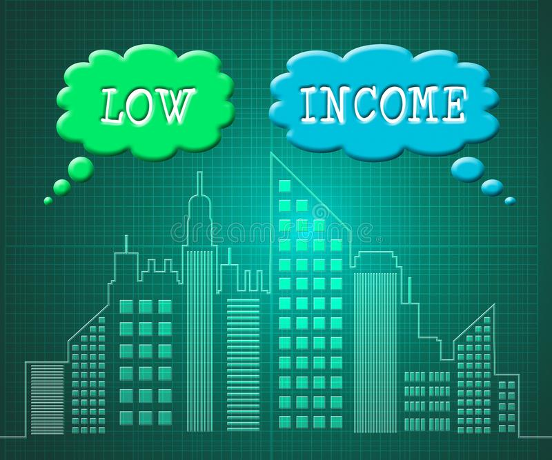 Low Income Home Or House Cityscape Meaning Cheap Housing - 3d Illustration. Low Income Home Or House Cityscape Meaning Cheap Housing. Budget Accomodation For vector illustration