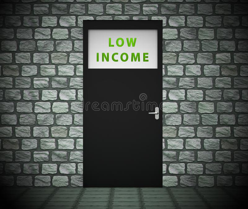 Low Income Homes And Houses Symbol For Poverty Stricken Renters And Buyers - 3d Illustration. Low Income Homes And Houses Symbol For Poverty Stricken Renters And vector illustration