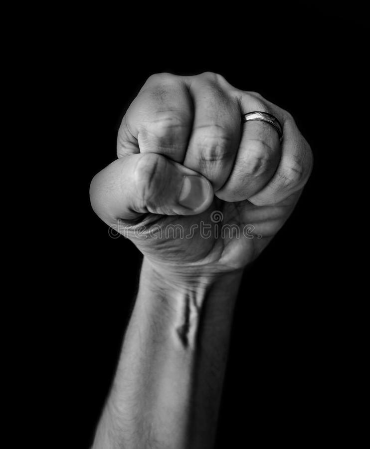 Low Key arm. Low Key black and white forearm royalty free stock photography