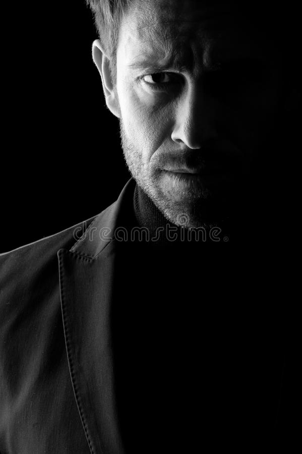 Download Low Key Portrait Of Mid Age Man Stock Images - Image: 25336424