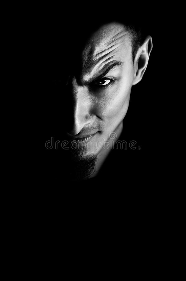 Free Low Key Portrait Of Evil Royalty Free Stock Photos - 17576958