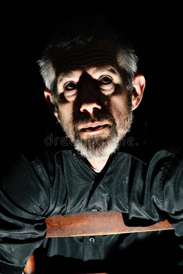 Man in Anguish royalty free stock images