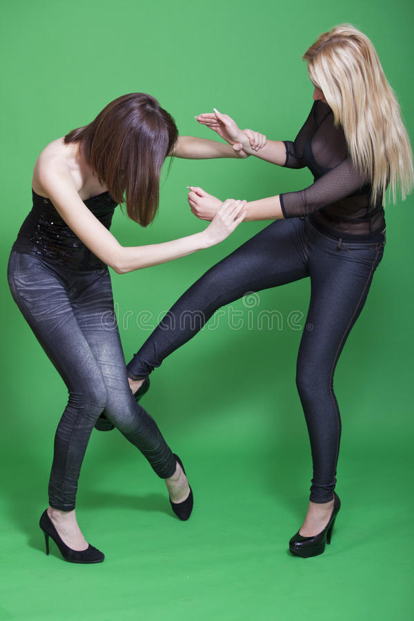 Download Low kick in self defence stock photo. Image of victim - 13821742