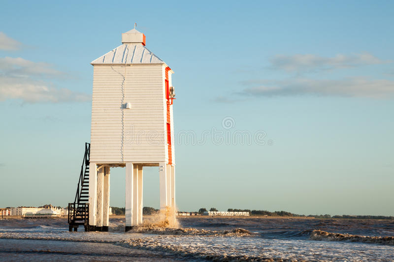 Low Lighthouse Burnham-on-sea Royalty Free Stock Photos