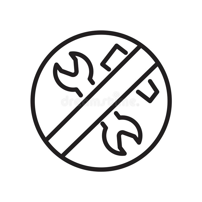 Low maintenance icon isolated on white background. For your web and mobile app design royalty free illustration